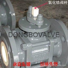 Ceramic ball valve (zro2