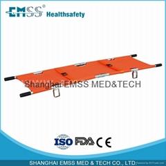 2 Fold Aluminum Alloy Foldable Pole Stretcher