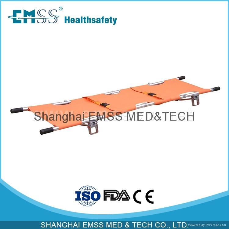 2 Fold Aluminum Alloy Foldaway Stretcher