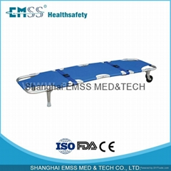 2 Fold Wheeled Foldable Stretcher