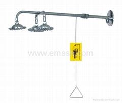 EXY-014   不鏽鋼緊急沖淋洗眼器(三頭)接牆式