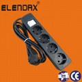 4-way extension power cords with earth