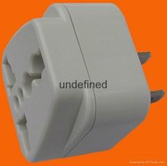 2 Flat Pin Plug to Universal Socket