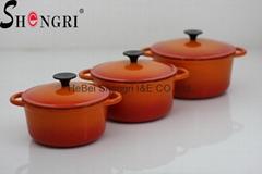 cast iron casserole set