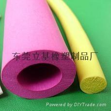 Foam silicone tube
