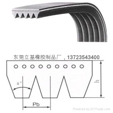 Rubber multi-wedge belt 1