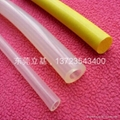 Woven silicone tube