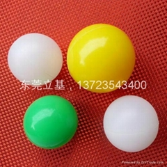 Hollow plastic ball