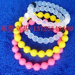 Wholesale Silicone bracelet, Silicone wristband, Beaded bracelets