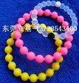 Wholesale Silicone bracelet, Silicone wristband, Beaded bracelets 2