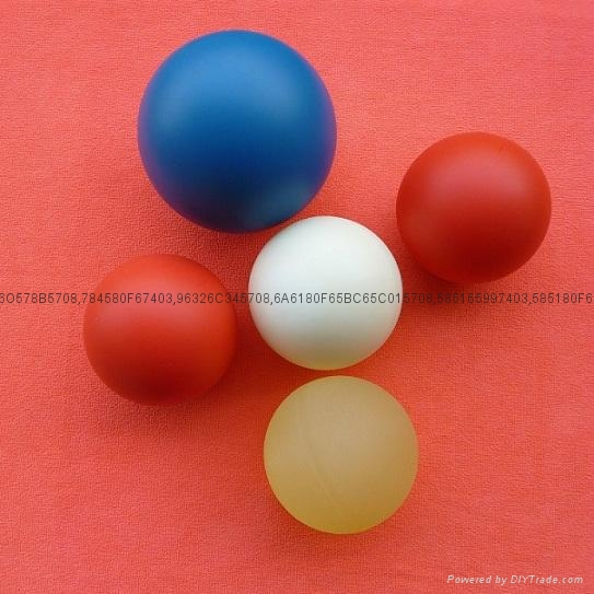 Plastic bowling ball