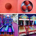 游戏机滚球游戏机配件玩具保龄球极速滚球75mm实心球