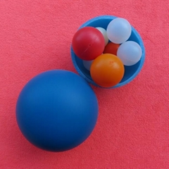 Plastic floating ball, floating ball in air, floating ball in water