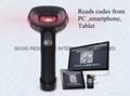 Handheld 2d barcode reader for PDF 417