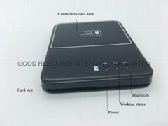 Bluetooth 13.56MHZ NFC RFID bank card reader