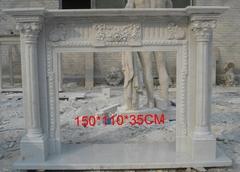 純手工雕刻大理石壁爐架