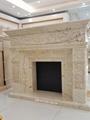 土耳其进口索菲特金大理石欧式手工雕刻壁炉架marble fireplace 1