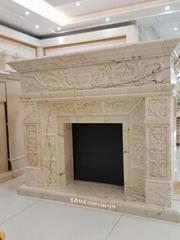 土耳其进口索菲特金大理石欧式手工雕刻壁炉架marble fireplace