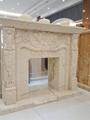 土耳其进口索菲特金大理石欧式手工雕刻壁炉架marble fireplace 2