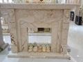 土耳其进口索菲特金大理石欧式手工雕刻壁炉架marble fireplace 3