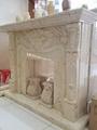 土耳其进口索菲特金大理石欧式手工雕刻壁炉架marble fireplace 4