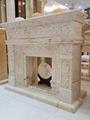 土耳其进口索菲特金大理石欧式手工雕刻壁炉架marble fireplace 5