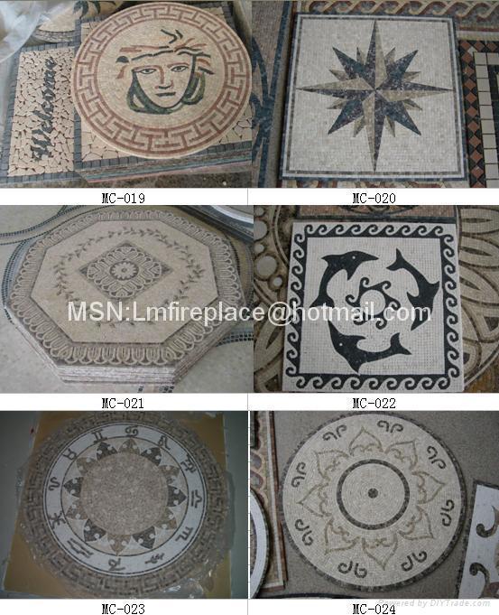 石材马赛克地板、腰线、拼图 4