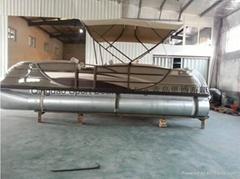 7.32米铝合金浮筒观光艇