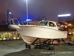38尺玻璃鋼專業釣魚艇高檔配置