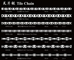 925 silver tile chain,fashion jewelry