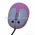 兔子光电鼠标,卡通有线鼠标 礼品鼠标 2