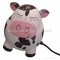 奶牛发声光电鼠标,卡通有线鼠标