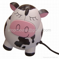 voice cow optical mouse,cartoon mouse,animal mouse, computer gift mouse