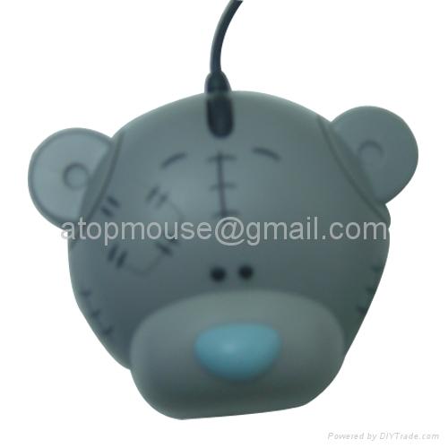 小熊光电鼠标,卡通有线鼠标 礼品鼠标 1