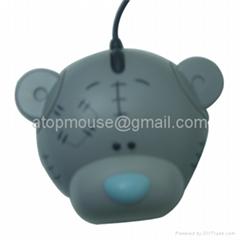 小熊光电鼠标,卡通有线鼠标 礼品鼠标