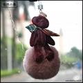 泰迪熊毛球香氛挂飾韓風汽車香薰挂飾包包拉鍊飾品 3