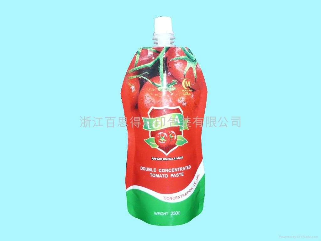 spout pouch for tomato paste 1