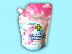 spout pouch for liquid detergent 500ml