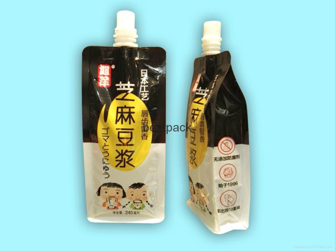 245ml flat bottom spout pouch