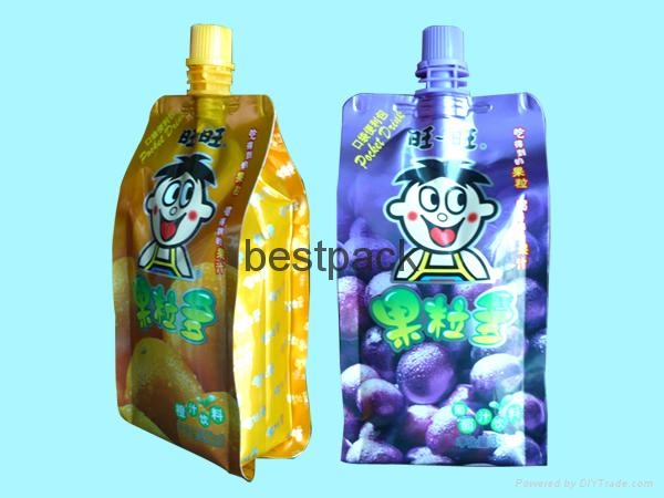 side gusset bag for juice 350ml