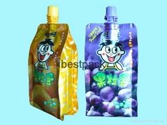 side gusset bag for juice 350ml