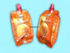 side gusset bag for juice 200ml