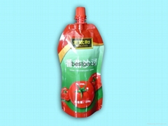 spout pouch for tomato ketchup