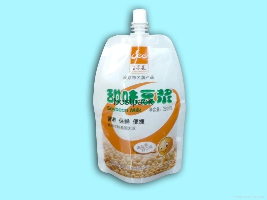 standing pouch for soybean milk 250ml 1