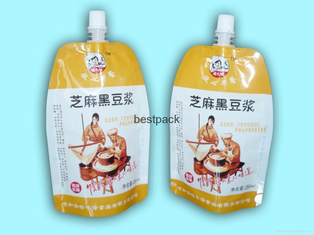 spout pouch for soybean milk 1
