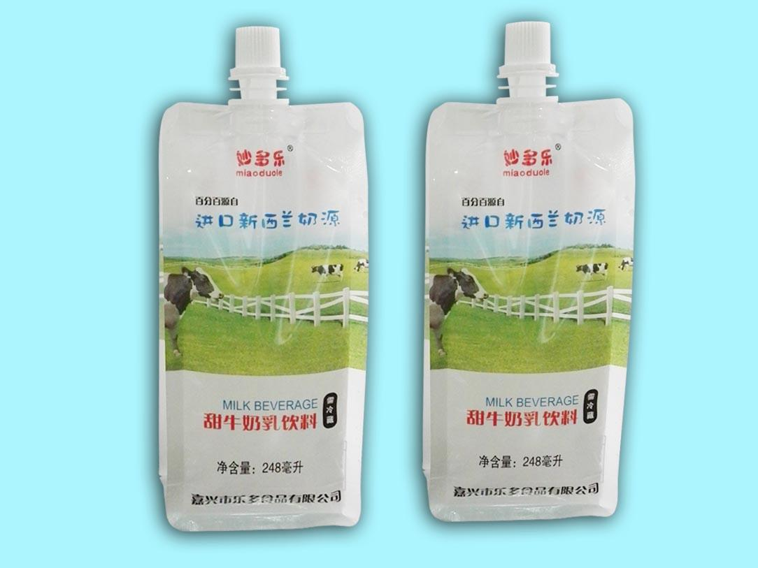 248ml flat bottom spout pouch