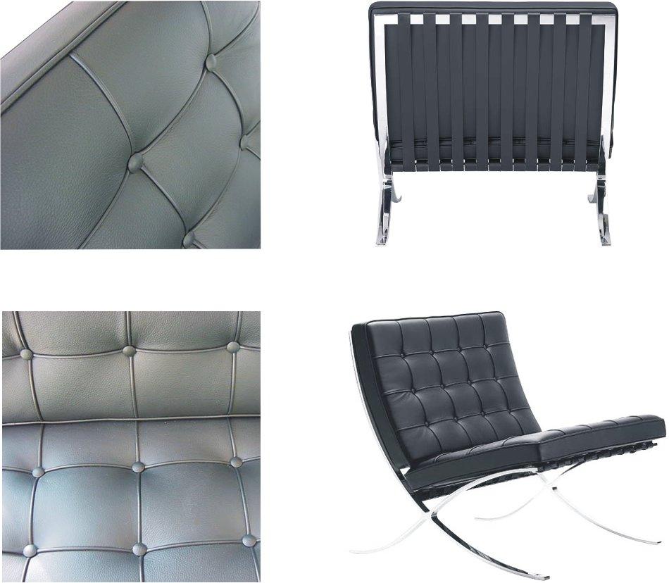 Barcelona chair back - Barcelona Chair