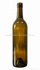 Bordeaux Bottle 750ml wine bottle glass bottle