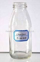 Beverage Bottle 250ml milk bottle glass bottle flint
