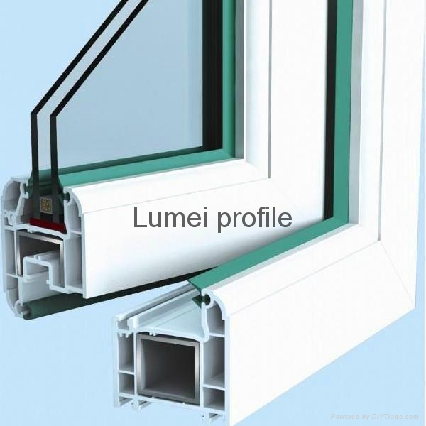 Pvc Window Profiles : Pvc window profile in different sections series